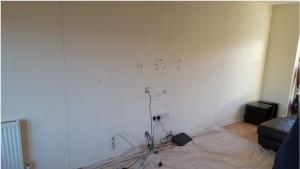 Protecting the floor before tv wall installation