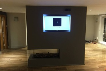 fireplace installation in North London home