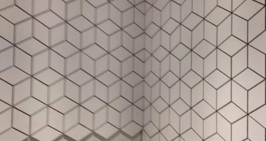 bathroom tiling in progress