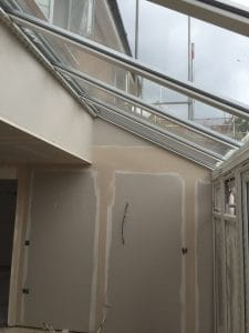 tape and joint conservatory walls