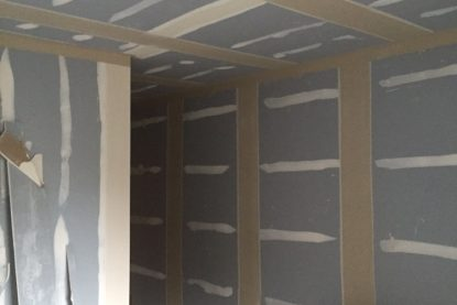tape and joint walls and ceiling