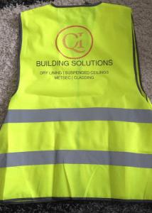 QI Building solutions high vis vest