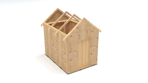 Cover the construction frame of a garden shed